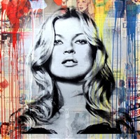 kate moss (vintage) by mr. brainwash