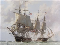 shannon & chesapeake by montague dawson