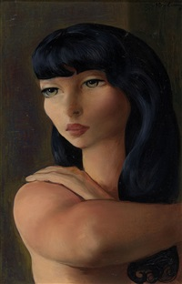 petite tête brune by moïse kisling