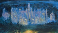 harlaxton manor, lincolnshire by john piper