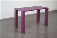 pink purple table sculpture by gianni piacentino