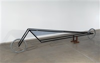 black frame vehicle with light blue-gray triangle tank by gianni piacentino