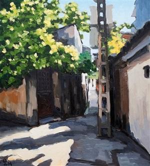 sunny alley by pham luan