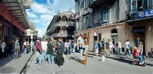 man on ladder, royal street, new orleans by scott mcfarland