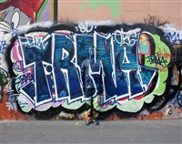 hide in paris n°07, graffiti by liu bolin