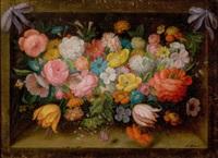 floral still life by nunzio di stefano