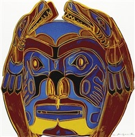 northwest coast mask fs ii.380 by andy warhol