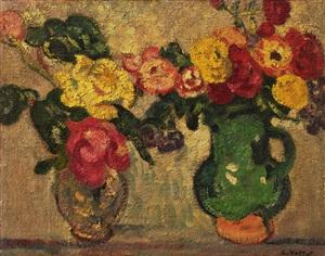 vase de fleurs by louis valtat