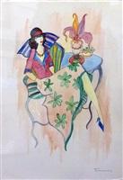floral skirt by itzchak tarkay