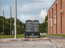 following the ten commandments: levy county courthouse, bronson, florida by andrea robbins and max becher