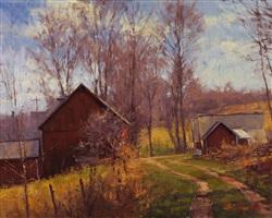 farm lane in springtime by george van hook