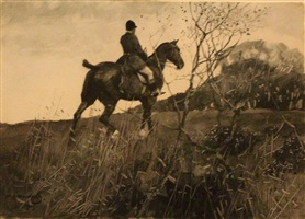 nobby grey on a hunter by sir alfred munnings