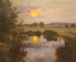 langham pool on the stour by sir alfred munnings