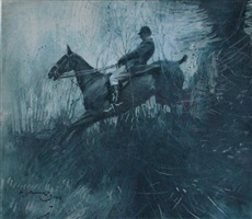 over the ditch by sir alfred munnings