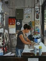 laundress by vincent giarrano