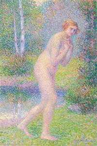 nu dans le foret by hippolyte petitjean