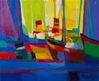 les deux cheminees by marcel mouly
