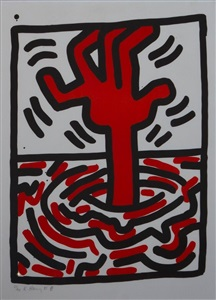 larsen art auction by keith haring