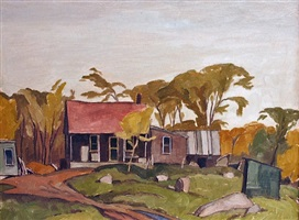 cabin montreal road at cushing, ontario by alfred joseph casson
