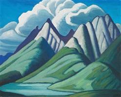 mountain sketch vii by lawren stewart harris