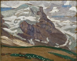 mountain sketch by alexander young jackson