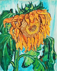 sunflower by john bratby