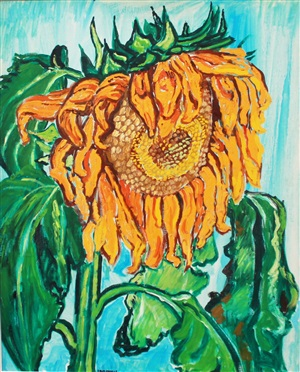 sunflower by john bratby