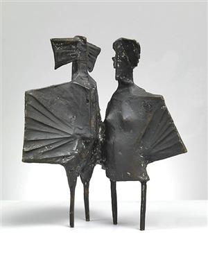 winged figures by lynn chadwick