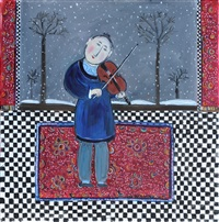 nigel in winter by dora holzhandler