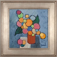 still life on a blue background by jacob vincent manguno