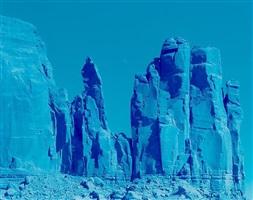moon over rocks, monument valley, arizona by david benjamin sherry