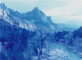winter storm, zion canyon, utah by david benjamin sherry
