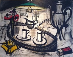 nature morte with anomies by bernard buffet