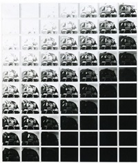 study for camera recording its own condition (7 apertures, 10 speeds, 2 mirrors) by john hilliard
