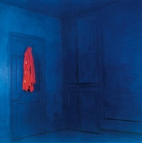 red coat/blue room (1) by john hilliard