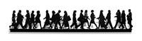 city walkers 1 & 2 by julian opie