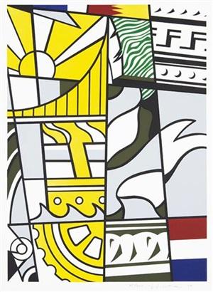 bicentennial print by roy lichtenstein