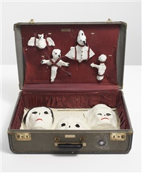 untitled (suitcase with three heads) by marcel dzama