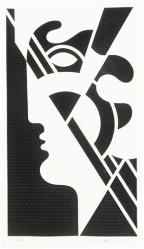 modern head #5 (from the modern head series) by roy lichtenstein