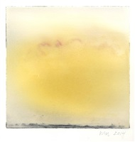 yellow cloud with red streak by wendy mark