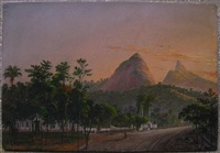 view of corcovado mountain from a neighborhood in rio by nicolau antonio facchinetti