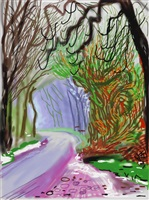 the arrival of spring in woldgate, 1 january 2011 by david hockney