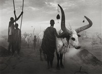dinka group at pagarau, southern sudan by sebastião salgado