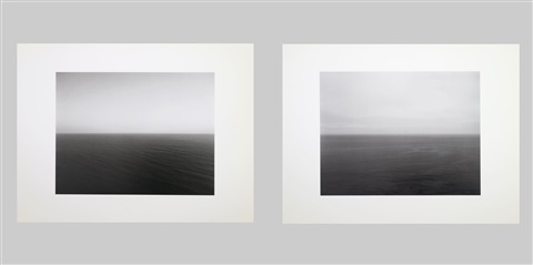 time exposed 304 atlantic ocean marthas vineyard time exposed 312 pacific ocean oregon  2 works by hiroshi sugimoto