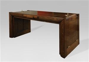 bureau en chêne s'ouvrant à deux tiroirs by charles dudouyt