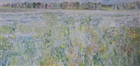 flax field and sow thistle ac-20-83 by dorothy elsie knowles
