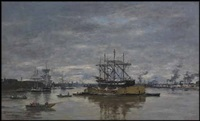 bordeaux, le port by eugène boudin
