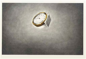 clock (from domestic tranquility series) by ed ruscha