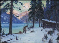 the trapper's return by clarence alphonse gagnon