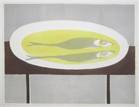 fish on a plate by william scott